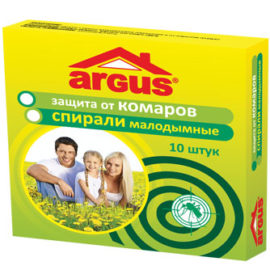 ARGUS Спирали малодымные от комаров (10шт.)